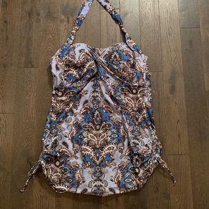 Paisley Mandala-type Print Swimsuit/Swim Dress, 18